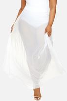 Fashion to Figure Petra Pleated Mesh Maxi Skirt