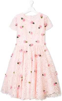 Lesy Flower Applique Dress