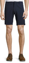 Zachary Prell Costa Seersucker Stretch-Cotton Shorts, Navy