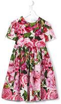 Dolce & Gabbana floral poplin dress - kids - Cotton - 6 yrs