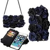 Samsung Galaxy S6 Edge Plus Case,Yaheeda [Card Slot] Magnetic Hybrid Flip Wallet Women Handbag with Shoulder Chain Purse Bag Case Cover