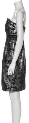 CARMEN MARCH Patterned Mini Dress w/ Tags Black