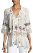 Free People You're Mine Embroidered Peasant Tunic