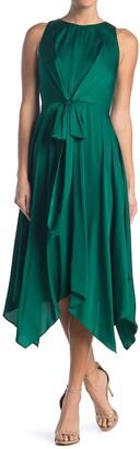 Maggy London Sleeveless Tie Waist Handkerchief Dress