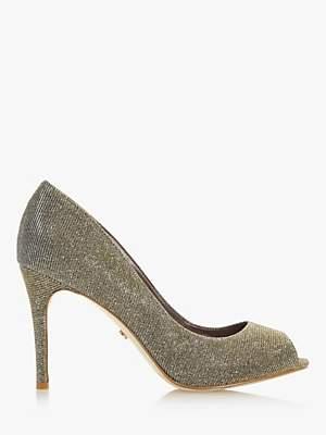 Dune Dinah 2 Peep Toe Court Shoes, Bronze