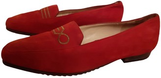 Bally Red Leather Flats