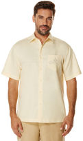 Cubavera Short Sleeve Ramie Cotton Geo Embroidery With Pocket