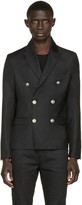 Pierre Balmain Black Double-Breasted Blazer