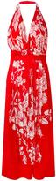 Fendi floral print halterneck dress - women - Silk/Viscose - 38