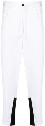 Ann Demeulemeester Tapered Contrast Cuff Trousers