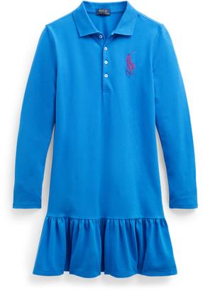 Ralph Lauren Big Pony Long-Sleeve Dress