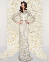 Mac Duggal Couture - 4316D Sequined Mesh Lace Gown