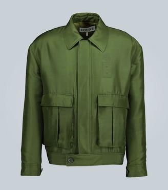 Loewe Padded shantung silk jacket