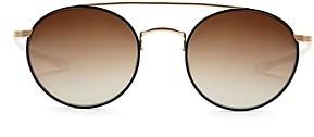 Krewe Active Unisex Driskill Brow Bar Polarized Round Sunglasses, 50mm