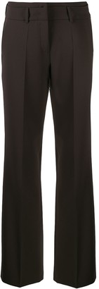 Cambio Creased Straight Leg Trousers