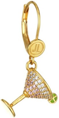 Judith Leiber 14K Goldplated Sterling Silver & Cubic Zirconia Martini Single Drop Earring