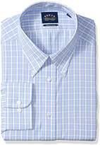 Eagle Men's Dress Shirt Stretch Collar Regular Fit Plaid