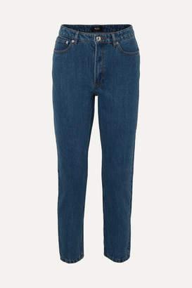 A.P.C. Mid-rise Straight-leg Jeans - Mid denim