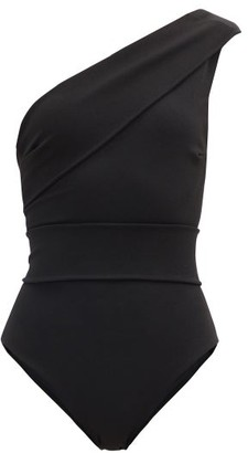 Haight Maria One-shoulder Crepe-jersey Swimsuit - Black