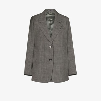 Eftychia Checked Wool Blazer