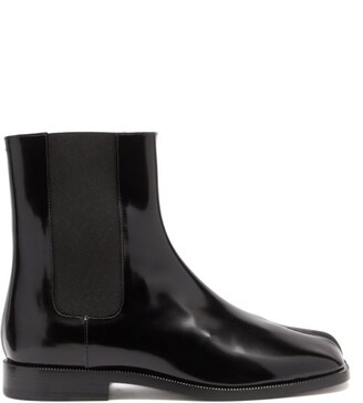 Maison Margiela Tabi Split-toe Leather Chelsea Boots - Black