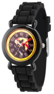 EWatchFactory Boy's Marvel Avengers Endgame Thanos Black Plastic Time Teacher Strap Watch 32mm