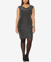 Lauren Ralph Lauren Plus Size Metallic Sheath Dress