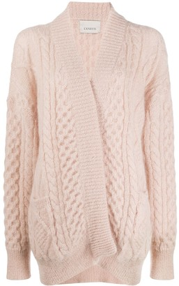 Laneus Long-Sleeved Chunky Knit Cardigan