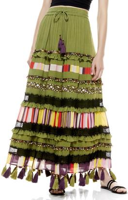 Alice + Olivia Judith Embellished Maxi Skirt