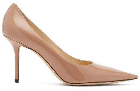 Jimmy Choo Love 85 Patent Leather Pumps - Womens - Nude