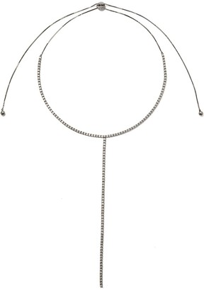 As 29 18kt black gold Indiana long diamond necklace