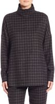 Akris Punto Flannel Windowpane Top