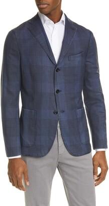 Boglioli Trim Fit Plaid Wool Sport Coat