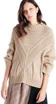 Sole Society Mock Neck Drop Shoulder Sweater