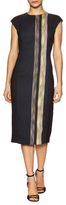 Rachel Roy Striped Tweed Midi Dress