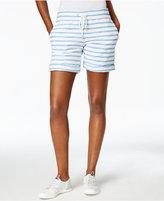 Calvin Klein Tie-Waist Striped Shorts