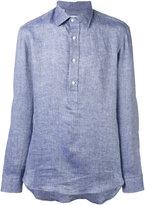 Salvatore Piccolo half button placket shirt - men - Linen/Flax - 40