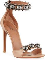 Alaia Veau Bombe Metal Sandals