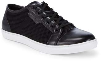 Kenneth Cole Design Leather Woven Sneakers
