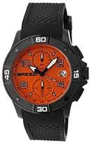 Breed Men's 'Raylan' Japanese Quartz Movement Stainless Steel and Silicone Watch, Color:Black (Model: BRD5808)