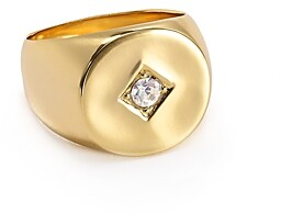 Jules Smith Designs Tulum Swarovski Crystal Signet Ring