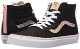 Vans Kids Sk8-Hi Zip Rainbow/Gold) Girls Shoes