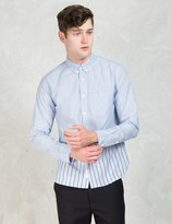 "De-Luxe DELUXE White/Blue ""Wes"" Shirt"