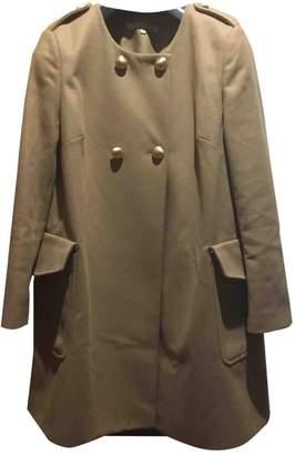 L'Autre Chose Camel Wool Coat for Women