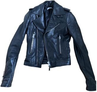 Balenciaga Black Leather Leather Jacket for Women