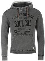Soul Cal SoulCal Mens Deluxe Waffle Hoodie Hoody Hooded Top Kangaroo Pocket Drawstring