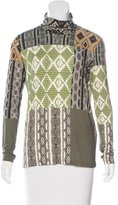 Etro Printed Turtleneck Top