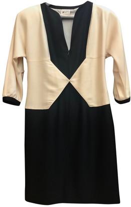Courreges Black Wool Dresses