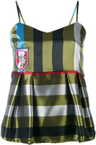 Isabelle Blanche - striped camisole top - women - Polyester - L