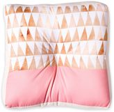 DENY Designs Georgiana Paraschiv Gold Triangles Square Floor Pillow
